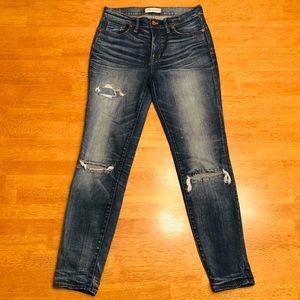 "Madewell Jeans 9"" high rise skinny denim 28 inch"